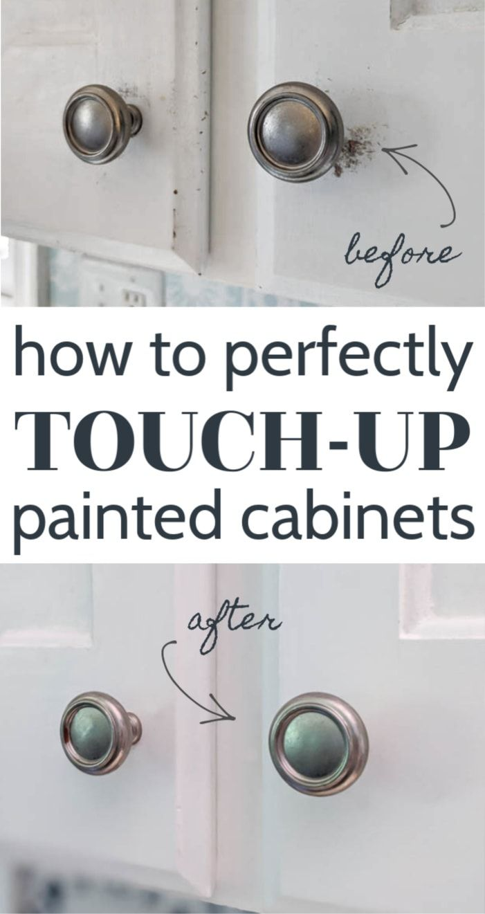 How To Touch Up Chipped Cabinet Paint