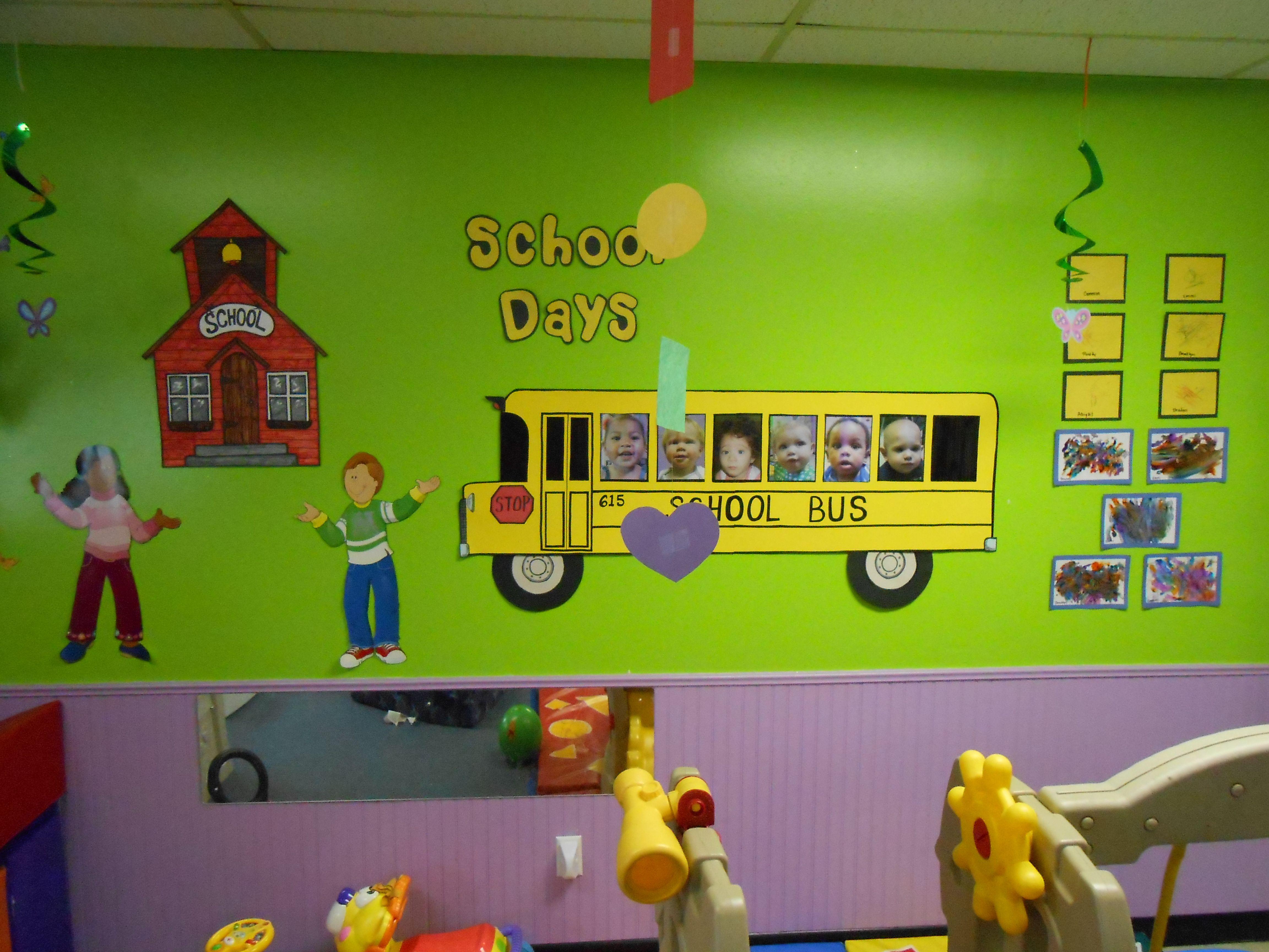 back to school theme Toddler, preschool daycare classroom ...