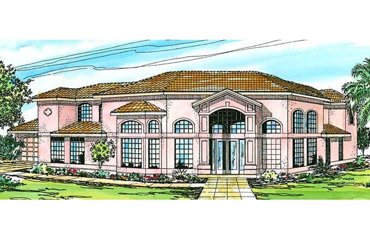 Southwest House Plan Savannah Front Elevation pei