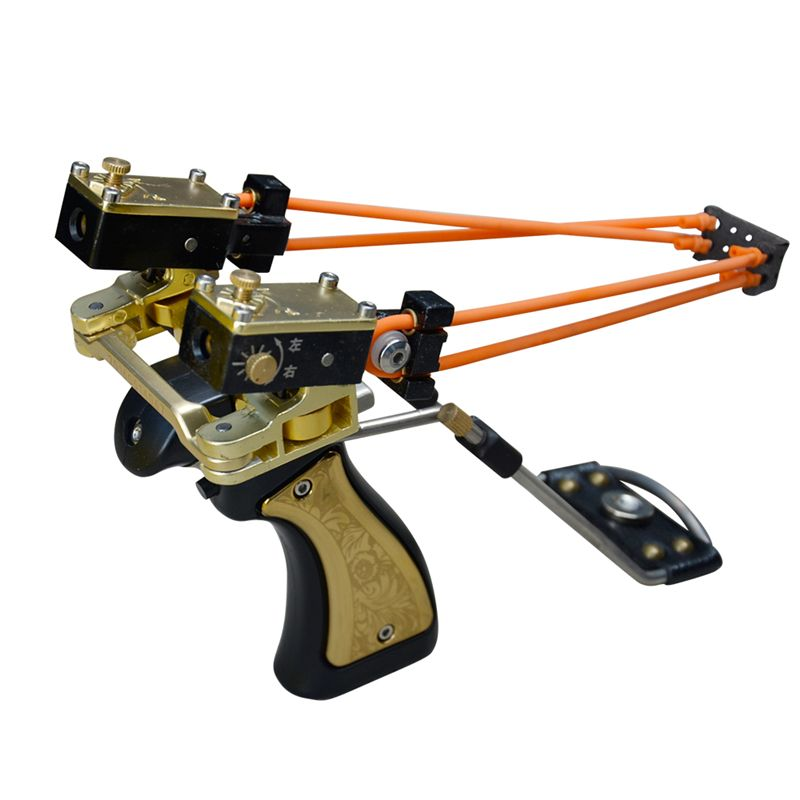 Outdoor Fishing Slingshot Pro Shooting Velocity Wrist Rest Powerful Camping Carp