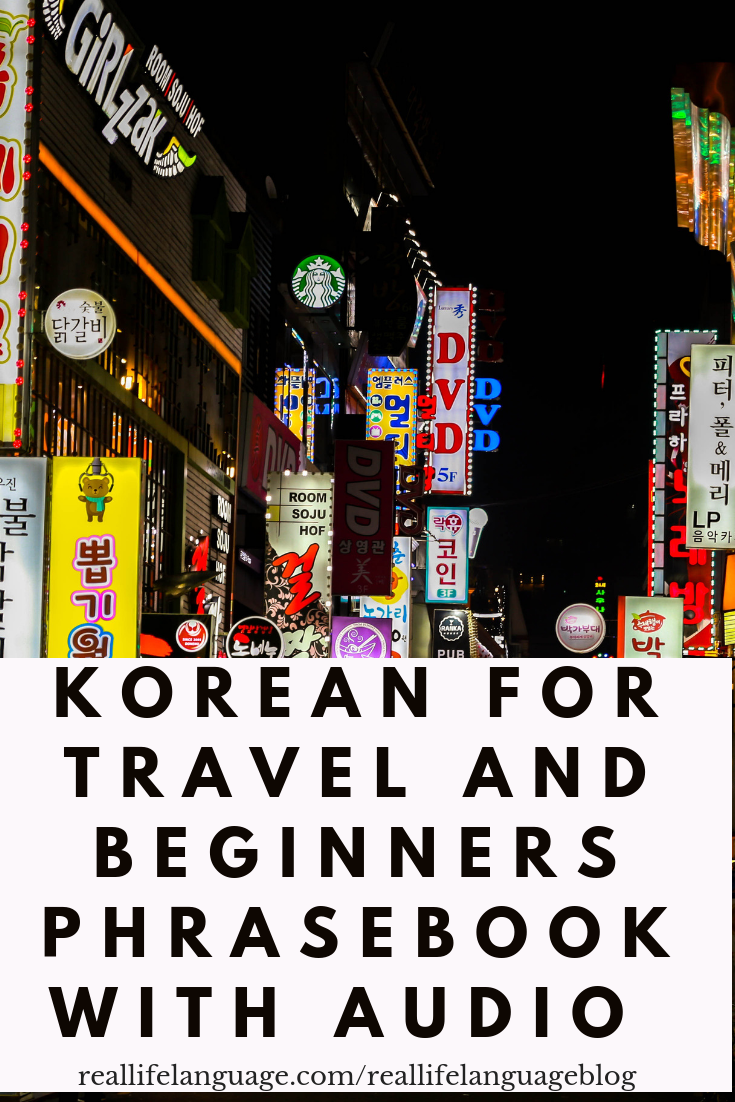FREE Korean for Travel and Beginners Book | DIY for Learning