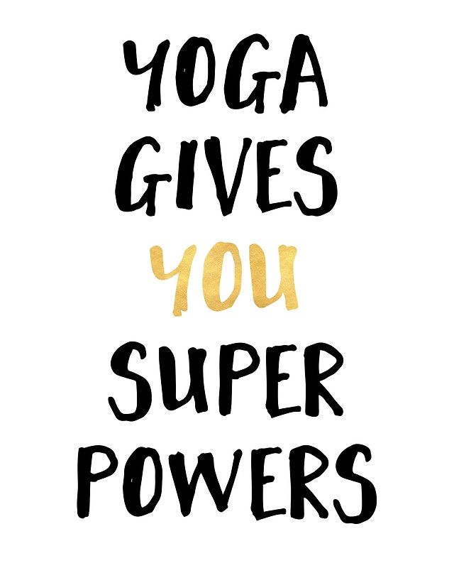 YOGA GIVES YOU SUPERPOWERS Photographic Print by deificusArt