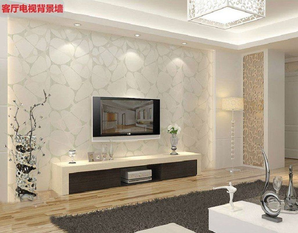 Modern Wallpaper Decoration For Living Room Ideas 23 Jpg 1026 801