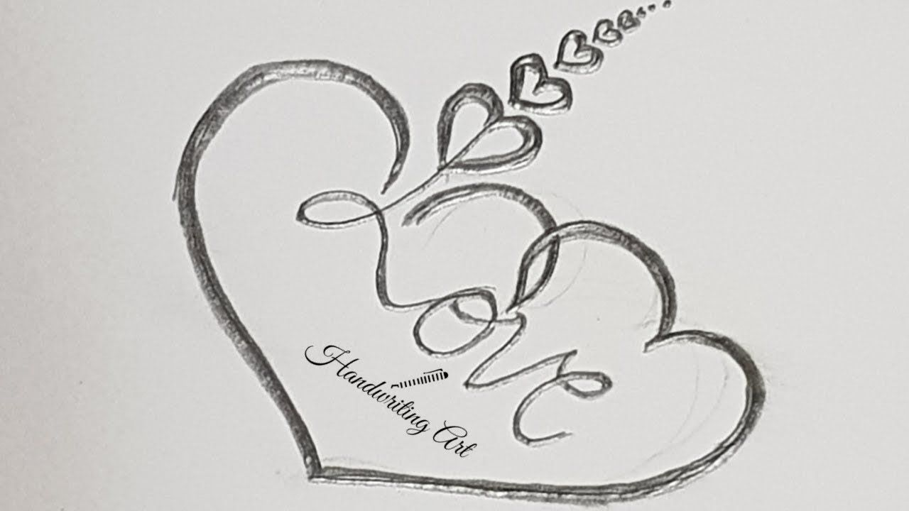 How To Draw Heart With Love Love Heart Tattoo Design Simple Love