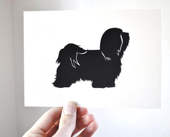Shih Tzu Silhouette By Jenn Inashvili Shih Tzu Dog Silhouette Shih Tzu Dog