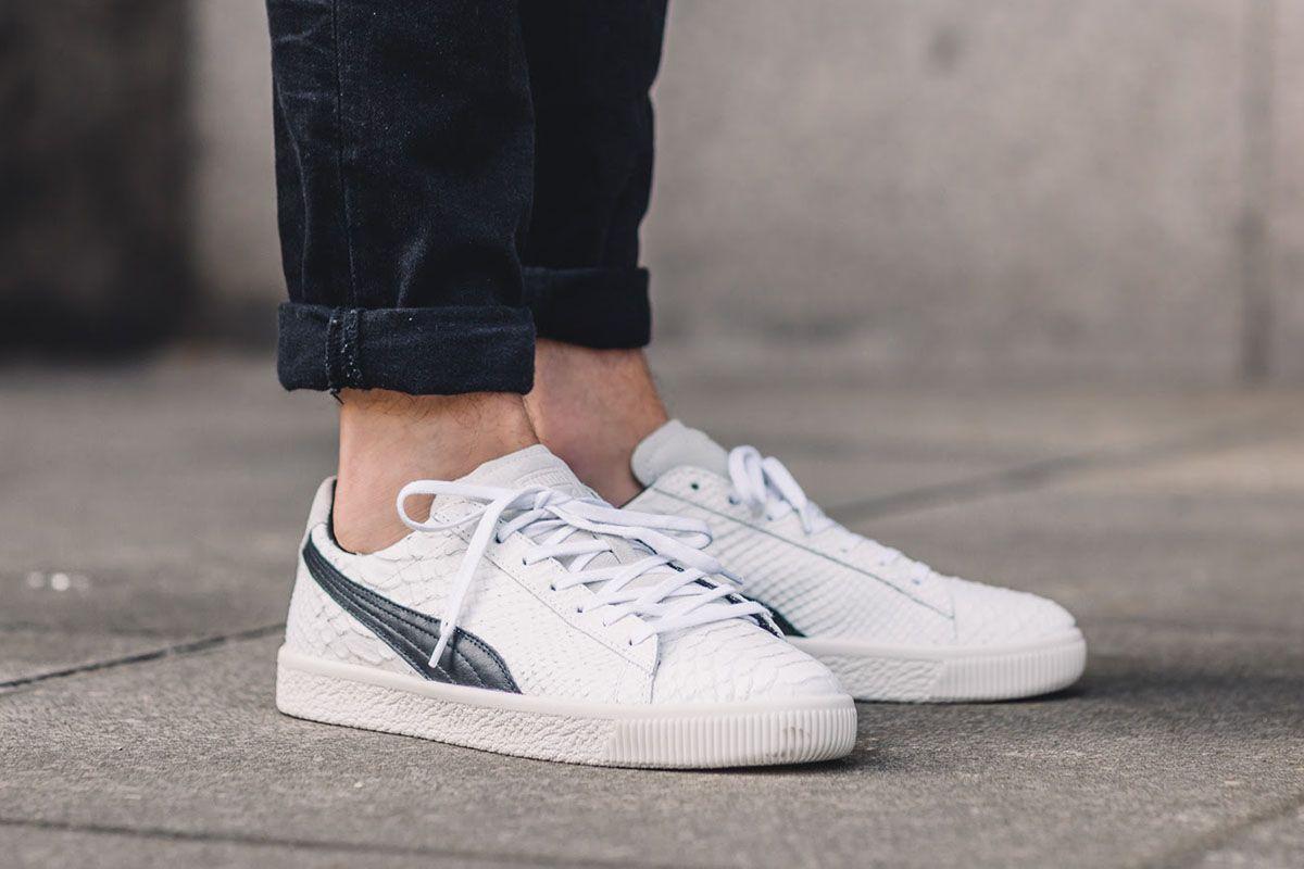 tenis puma clyde blancos