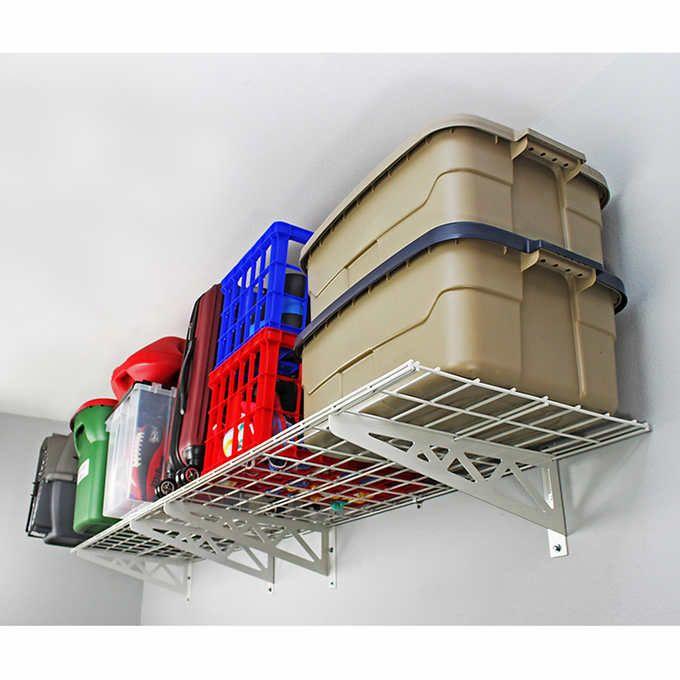 SafeRacks Wall Shelf Combo Kit, Two Shelves, Four Deck ...