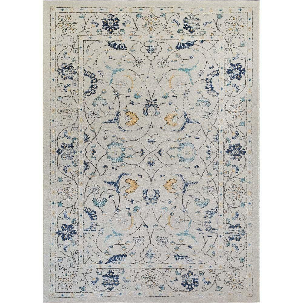 Home Dynamix Bazaar Distressed Ivory/Blue 7 ft. 10 in. x 10 ft. 1 in. Indoor Area Rug-1-25166-128 - The Home Depot