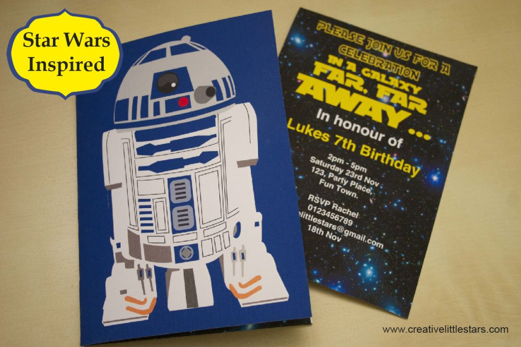 .Printable Star Wars Inspired Invitation