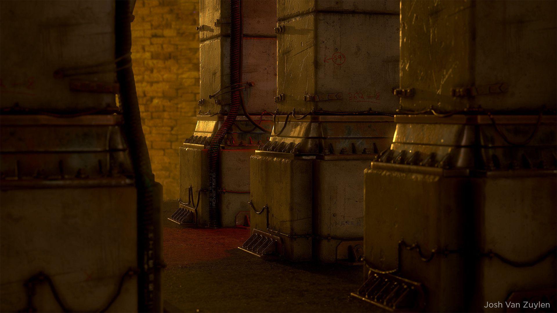 ArtStation - Blade Runner/Cyberpunk - Concrete Pillar, Josh Van Zuylen