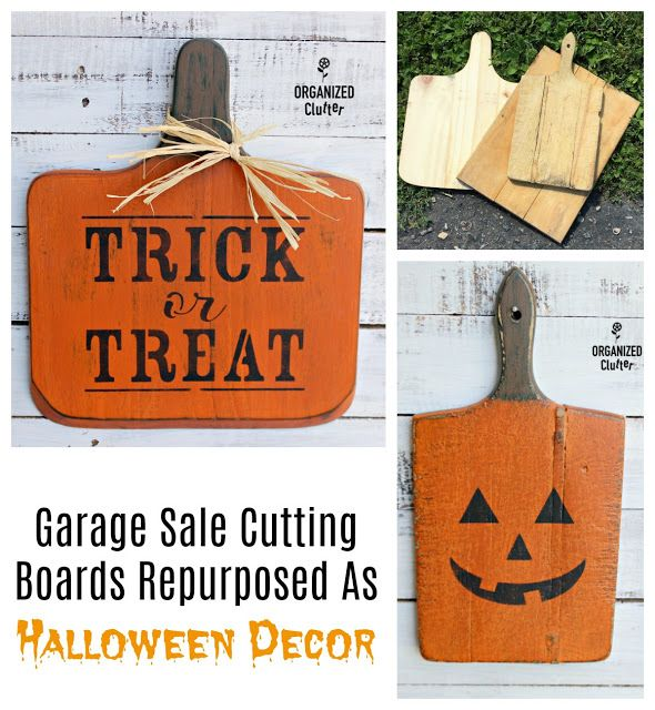 From Garage Sale Cutting Boards to DIY Halloween Decor Garage sale