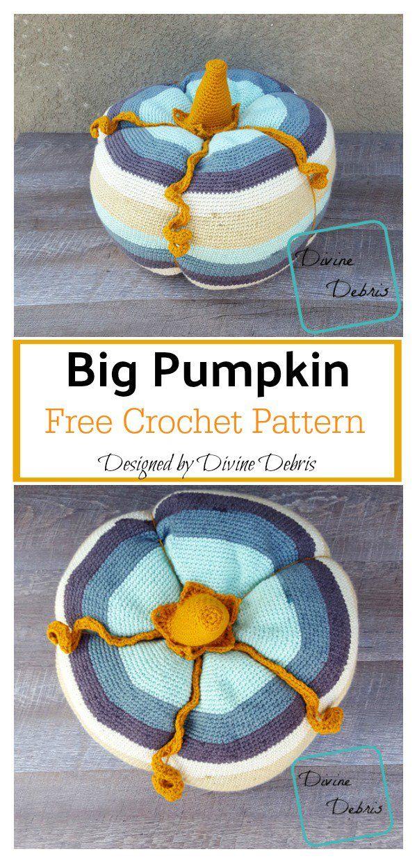 Big Pumpkin Free Crochet Pattern in 2018   Crochet   Pinterest ...