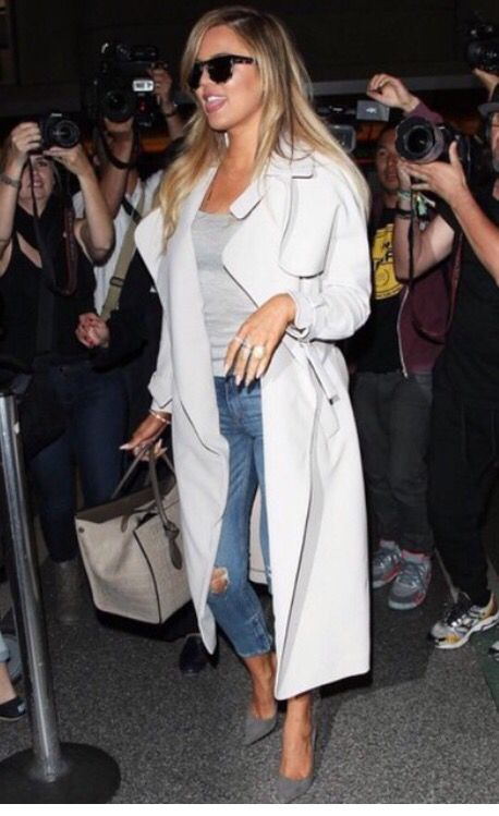 Long white trench
