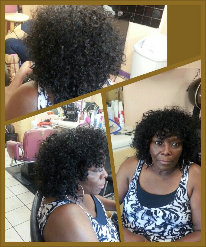 Curly Weave She Wanted A Low Maintenance Hair Style Low Maintenance Hair Curly Weaves Hair Styles