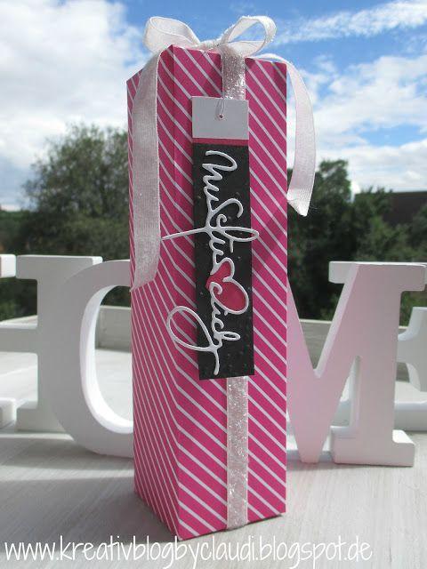 Kreativ Blog by Claudi: Verpackung pink mit pep
