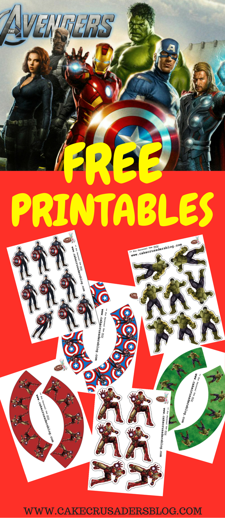 The Avengers Party Setup Cupcake Toppers Wrappers Avengers