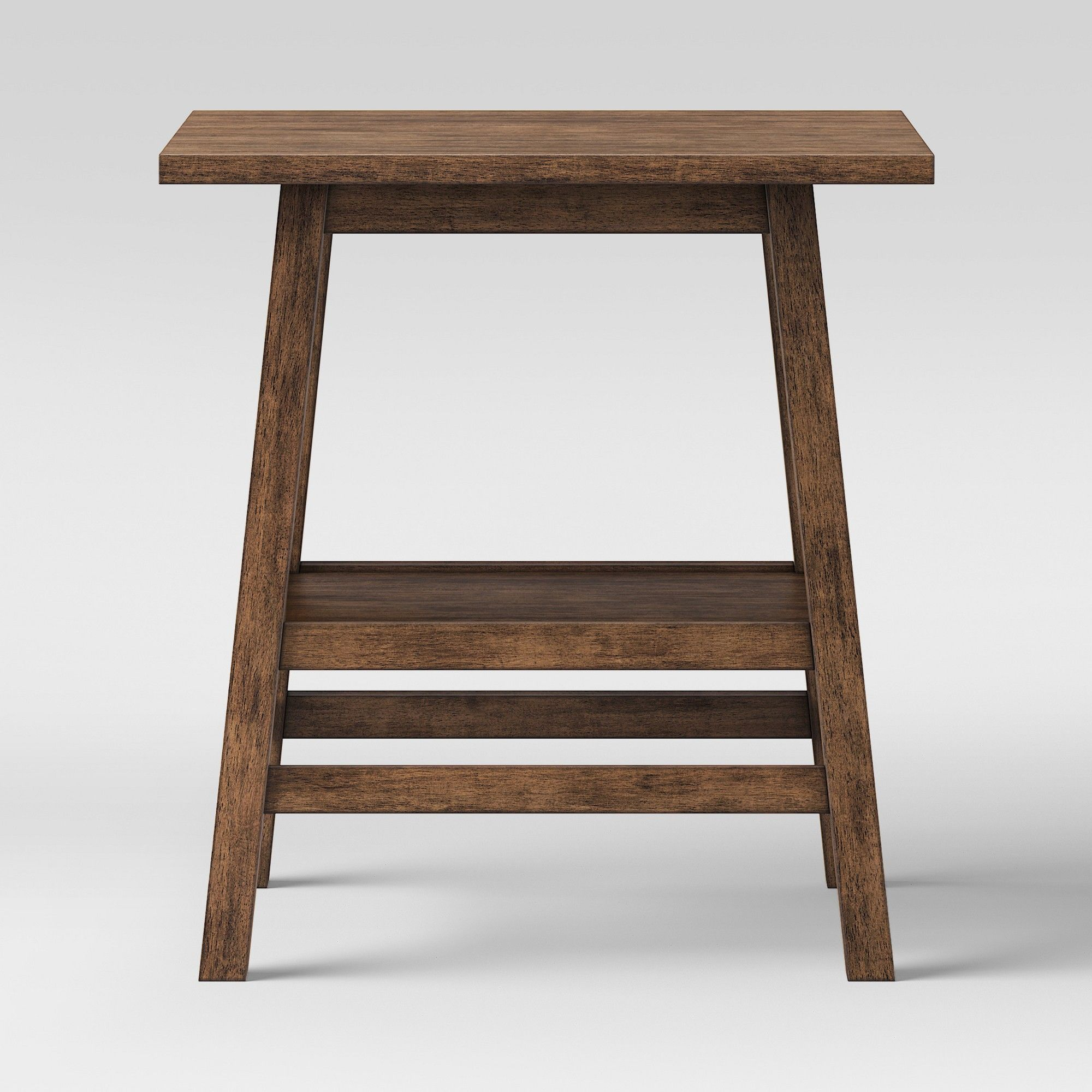 Haverhill Reclaimed End Table Brown Threshold Wood end