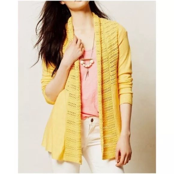Angel of the North Visionary Backpleat Cardigan | Anthropologie ...