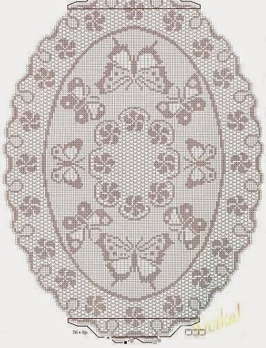 Oval tablecloth | Filethäkeln | Pinterest | Gardinen, Stricken ...