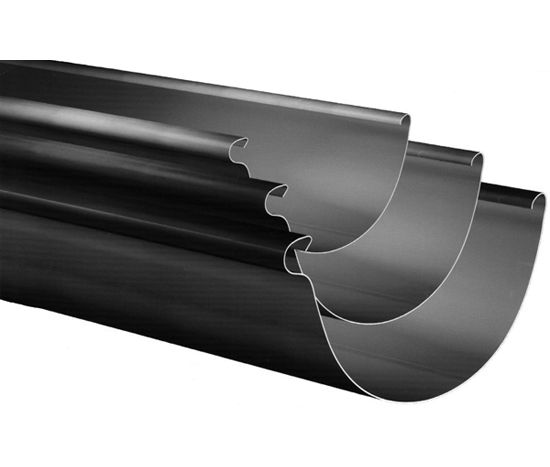 5 X 26 Gauge Half Round Galvalume Gutter With Images Gutters Gutter Downspout