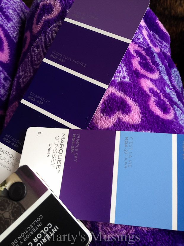 Accent wall colors behr perpetual purple martys musings