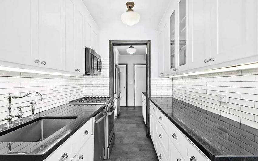 30 Black And White Kitchen Design Ideas White Kitchen Design Kitchen Design White Galley Kitchens