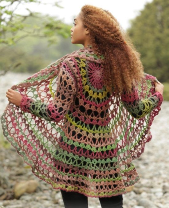 DIY Crochet Lace Jacket Free Pattern Ideas | Ponchos, Tejido y Ganchillo