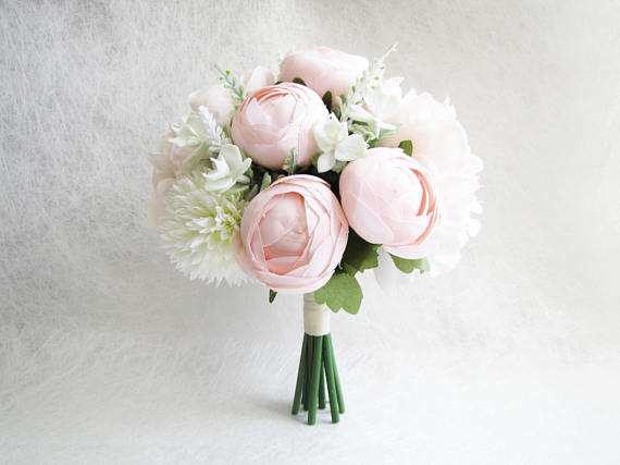 Blush Peonies Bridal Bouquet, Peach Peonies Bridesmaid Bouquet, Wedding Bouquet, Poeny Wedding Bouquet, Blush Floral Bouquet