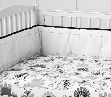 Baby Room Decor Nursery Bedding, Black And White Dinosaur Baby Bedding