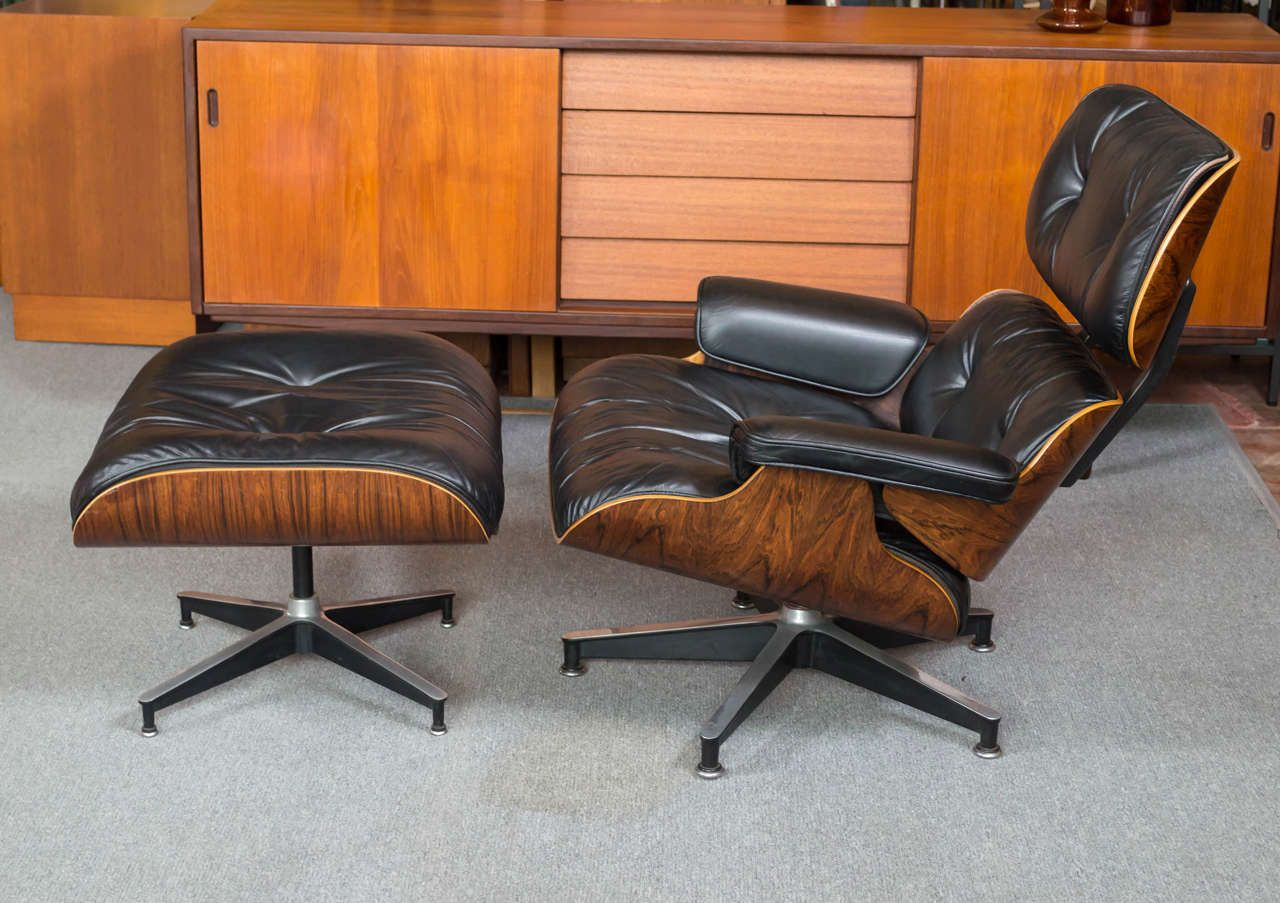 Eames Rosewood Lounge Chair 670 And Ottoman 671 For Herman Miller