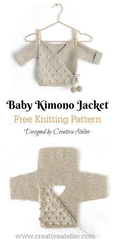 Kimono Sweater Free Knitting Pattern #gratismønster