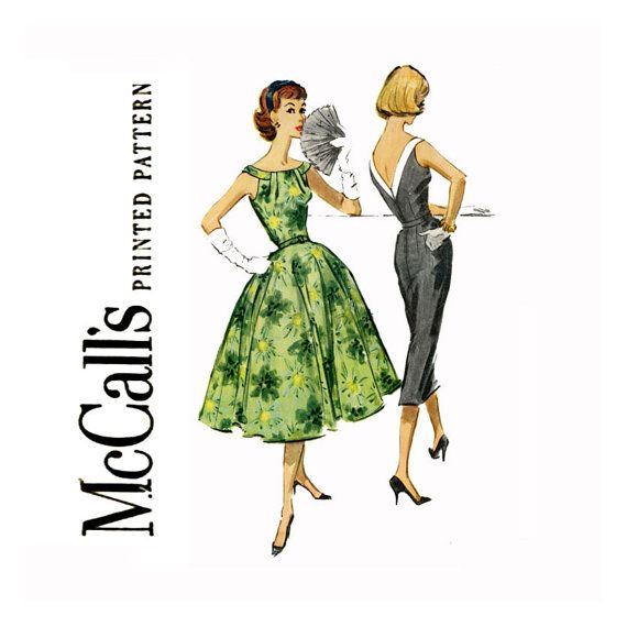 1950s Dress Vintage Sewing Pattern Bust 32 McCalls by CynicalGirl