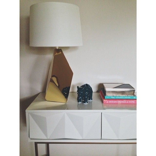 Sculpted Geo Console Parchment Modern Drawers Home Decor