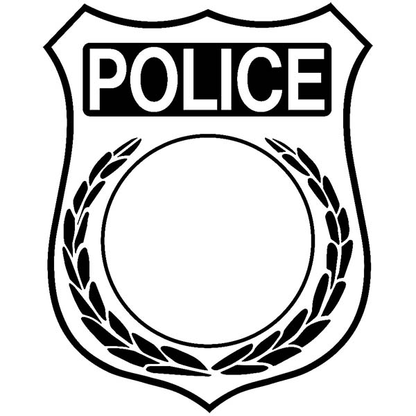Inauguration Badge Coloring Page Coloring Sky Police Badge Coloring Pages Badge