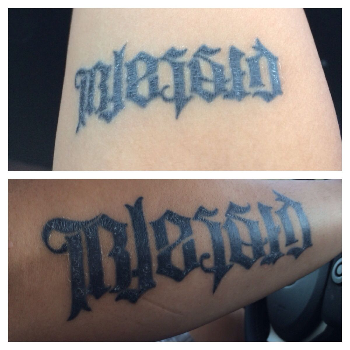 Blessed Cursed Ambigram Tattoo Wwwtopsimagescom