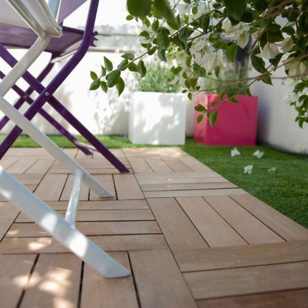 caillebotis bois pour le sol de votre balcon et terrasse c t jardin balcon et terrasse. Black Bedroom Furniture Sets. Home Design Ideas