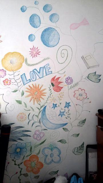 Divertidices: Eu que fiz- decoração da parede do quarto - Desenhos