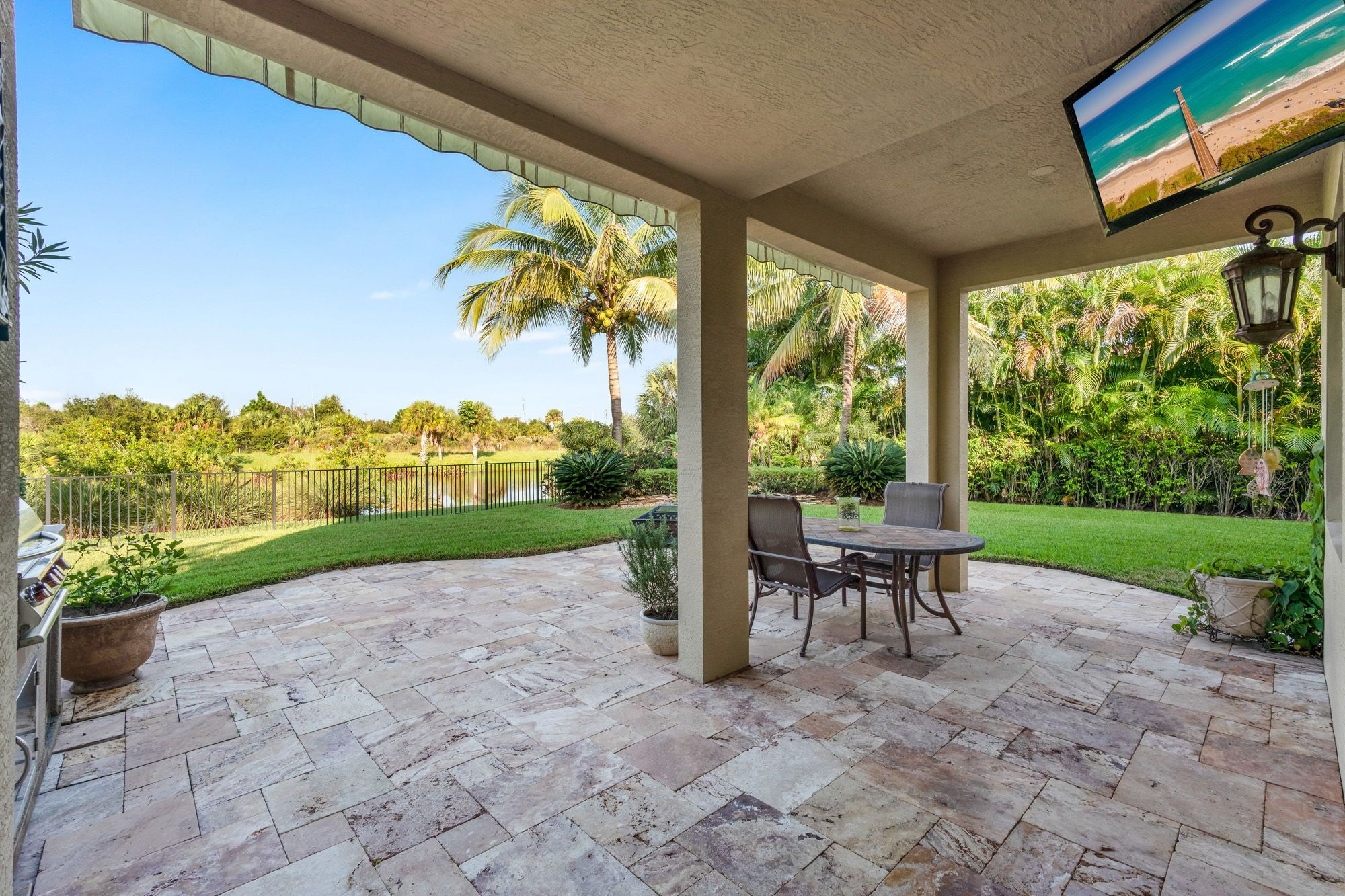Balcony Decoration Palm beach 9149 Garden Terrace protection perspective-pressure