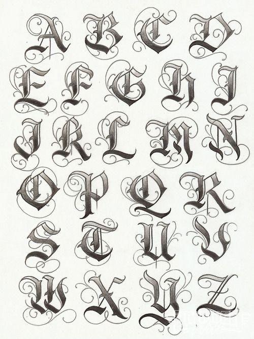 Tatuajes Goticos Significados E Ideas Letras Goticas Cursivas Letras Para Tatuajes Fuentes De Letras