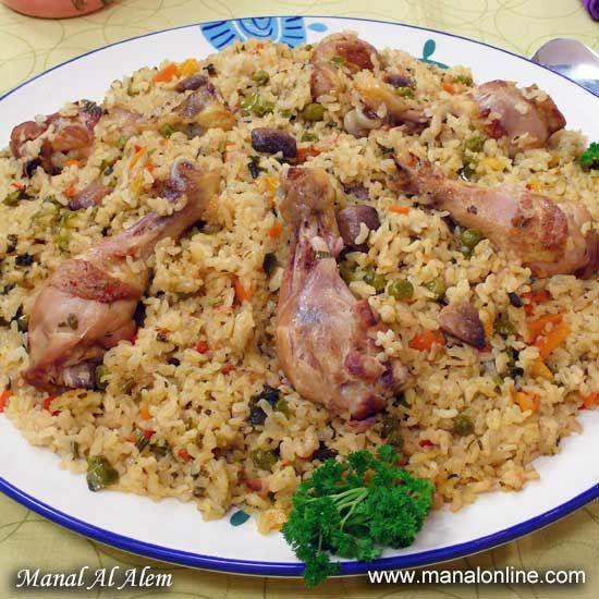 أرز بالدجاج والخضروات Healthy Dinner Recipes Recipes Lunch Recipes