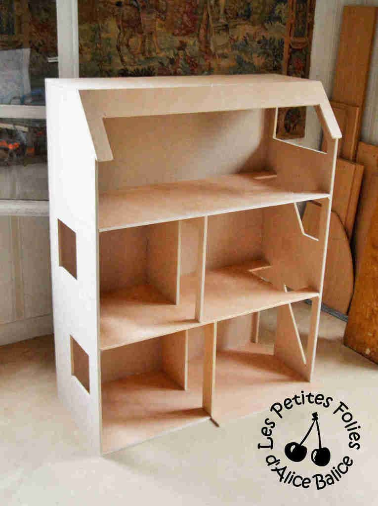 Alice balice diy maison de barbie conception et construction miniature pinterest - Plan de maison de barbie ...