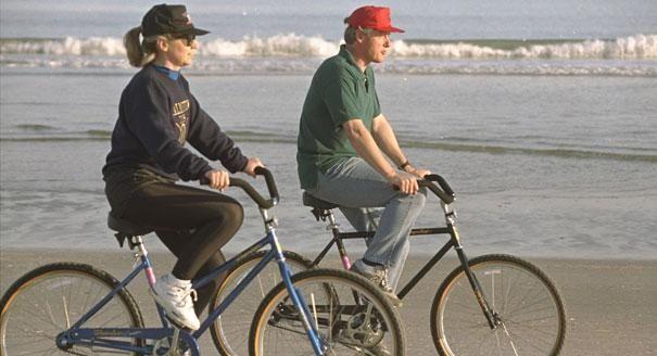 presidents on bikes clinton