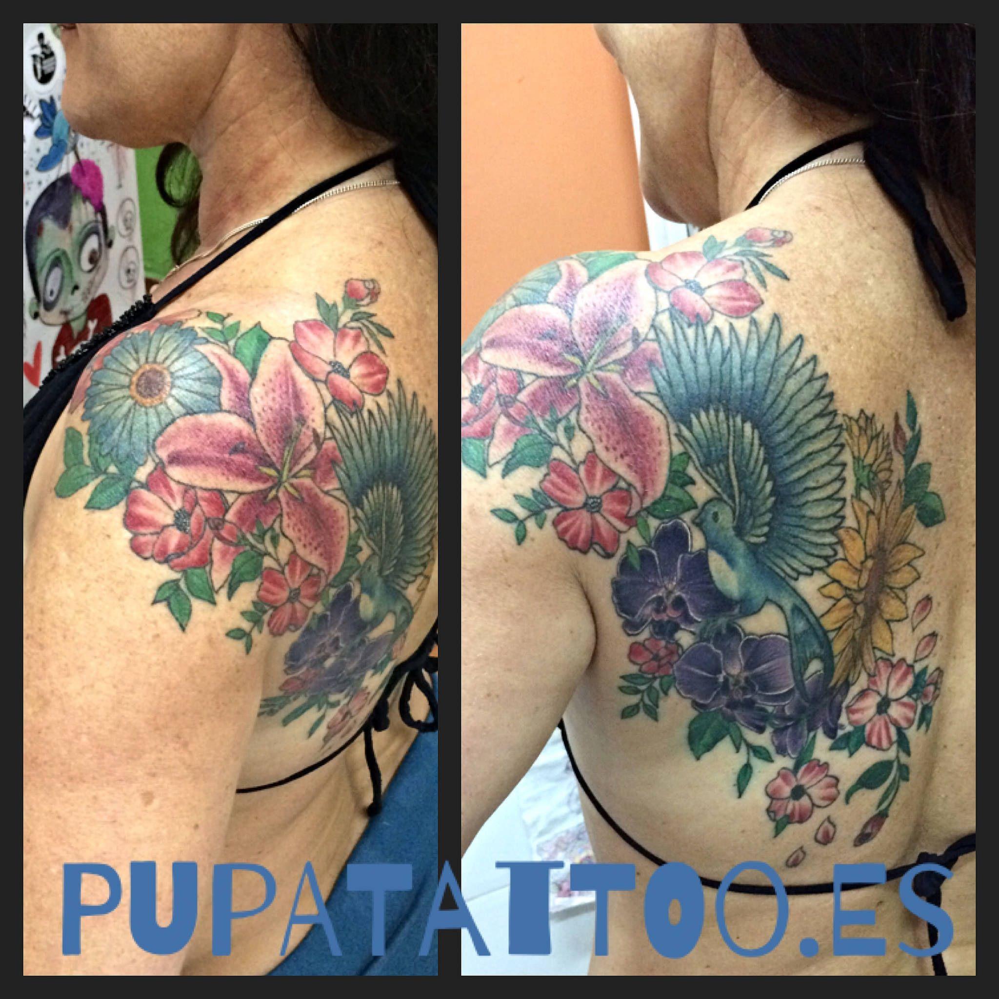 https://flic.kr/p/VdMS3U | Tatuaje Flores Pupa Tattoo Granada | Web: www.pupatattoo.es/  Citas: 958221280  #tattoo #tattoos #tatuaje #tatuajes #tattoogranada #ink #inked #inkaddict #timetattoo #tattooart #tattooartists