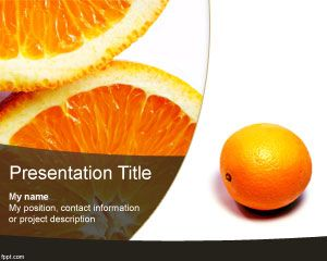 Orange Powerpoint Template Is A Free Orange Fruit Template For