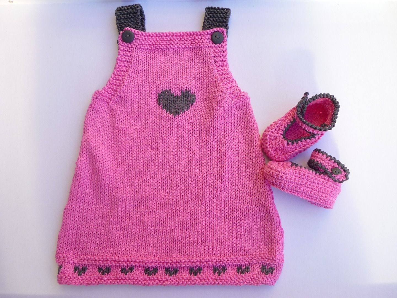 tricoter robe bebe debutant