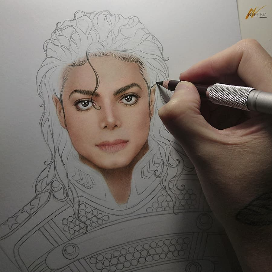 Michael Jackson ll, in progress #2. 👑✨ #art #Illustration #fanart  #portrait #drawing #draw…   Michael jackson drawings, Michael jackson art,  Art drawings beautiful