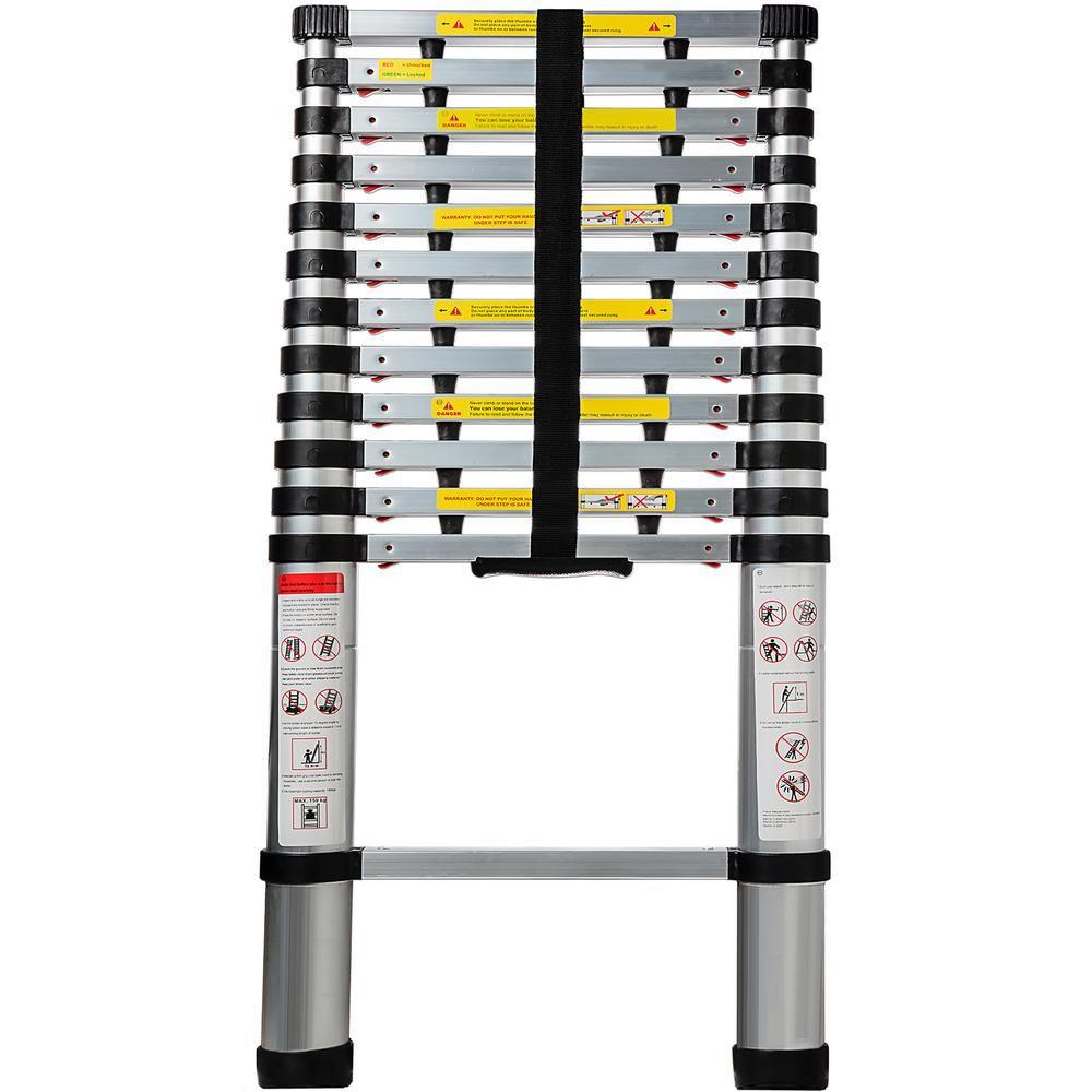 Oxgord Telescoping Ladder 12 5 Ft Aluminum Extension Ladder Ldal Ts02 12 The Home Depot Aluminum Extension Ladder Extendable Ladder Telescopic Ladder