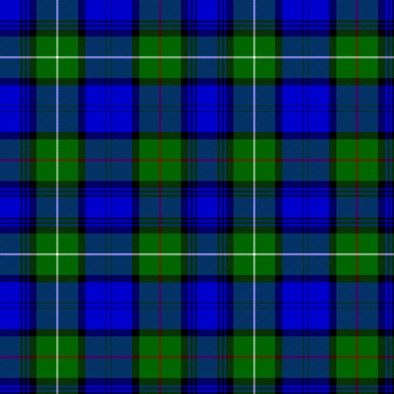 Clan MacKenzie Tartan as published in the Vestiarium Scoticum, Scotland
