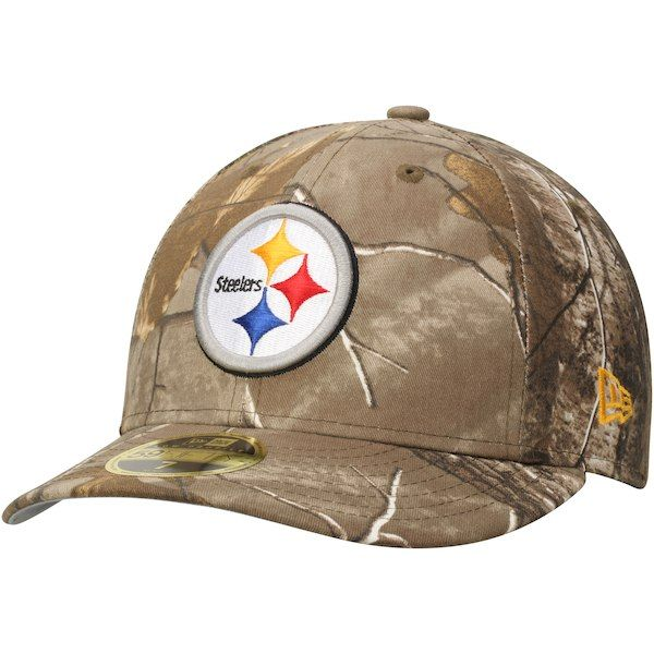 a61b4e938 Men s Pittsburgh Steelers New Era Realtree Camo Low Profile 59FIFTY ...