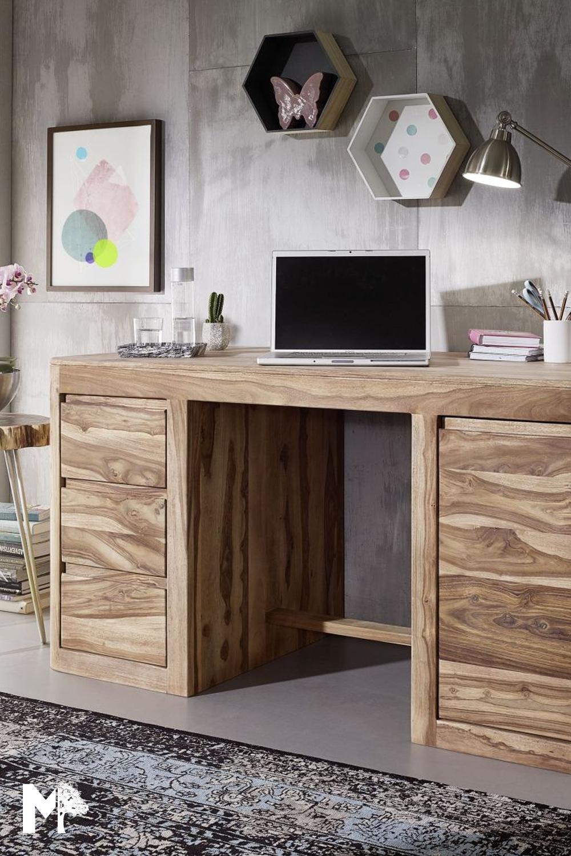Schreibtisch Massivholz Versandfrei Kaufen Massivmoebel24 Sheesham Mobel Schreibtisch Massivholz Haus Deko